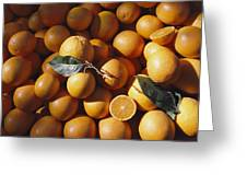An Abundance Of Oranges Greeting Card