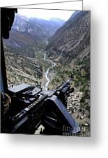 An Aerial Gunner Surveys Greeting Card