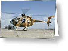 An Afghan Air Force Md-530f Helicopter Greeting Card