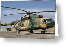 An Afghan Air Force Mi-17 Helicopter Greeting Card