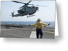 An Ah-1z Cobra Helicopter Takes Greeting Card