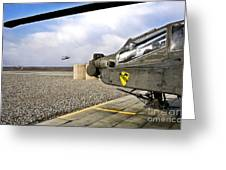 An Ah-64d Apache Helicopter Greeting Card