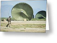 An Air Delivery Of Humanitarian Aid Greeting Card