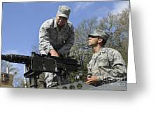 An Airman Instructs A Cadet On How Greeting Card by Stocktrek Images