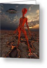 An Alien World Where Its Native Greeting Card