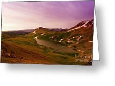 An Alpine Lake On Beartooth Pass  Greeting Card