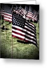 An American Flag Greeting Card