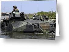 An Amphibious Assault Vehicle Enters Greeting Card