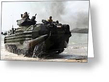 An Amphibious Assault Vehicle Hits Greeting Card