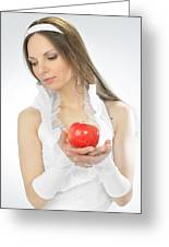 An Apple In Hands Greeting Card