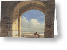An Arch At Holy Island - Northumberland Greeting Card