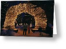 An Arch Built Of Antlers Greeting Card
