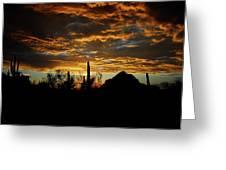 An Arizona Desert Sunset  Greeting Card