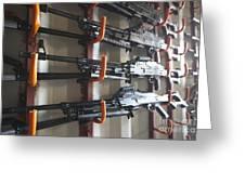 An Armory Of Pk Machine Guns Designed Greeting Card