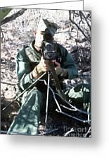 An Army Ranger Sets Up An Anpaq-1 Laser Greeting Card