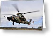 An Australian Army Tiger Helicopter Greeting Card
