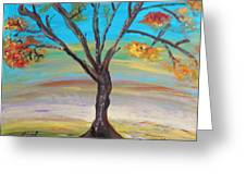 An Autumn Locust Tree Greeting Card