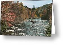 An Autumn Scene Along Little River Greeting Card
