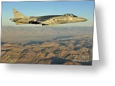 An Av-8b Harrier Conducts A Test Flight Greeting Card