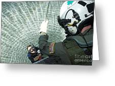An Aviation Rescue Swimmer Instructor Greeting Card