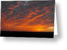 An Awesome Texas Sunset Greeting Card by Rebecca Cearley