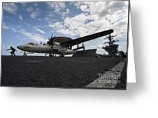 An E-2c Hawkeye Aircraft Prepares Greeting Card