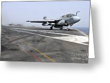 An Ea-6b Prowler Catapults Greeting Card