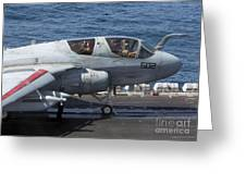 An Ea-6b Prowler During Flight Greeting Card
