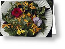 An Edible Salad At The Tilth Harvest Greeting Card