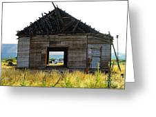 An Empty Barn  Greeting Card