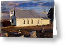 An Evening At Mcelwee Chapel Greeting Card