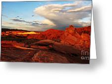 An Evening In The Valley Of Fire Greeting Card