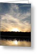 An Evening On The Water Greeting Card