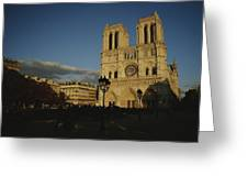 An Exterior View Of Notre Dame Greeting Card