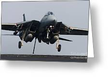 An F-14d Tomcat Comes In For An Greeting Card