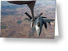An F-16 Fighting Falcon Moves Greeting Card