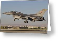An  F-16b Of The Turkish Air Force Greeting Card