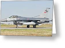 An F-16c Block 50 Of The Turkish Air Greeting Card