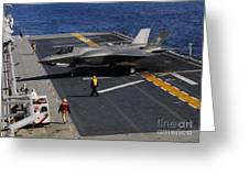 An F-35b Lightning II Makes A Vertical Greeting Card