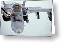 An Fa-18 Super Hornet Receives Fuel Greeting Card