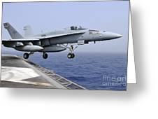 An Fa-18c Hornet Catapults Greeting Card