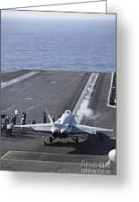 An Fa-18d Hornet Launches Greeting Card