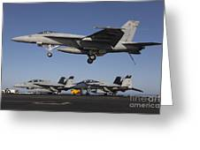 An Fa-18e Super Hornet Comes In For An Greeting Card