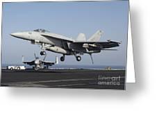 An Fa-18e Super Hornet Prepares Greeting Card
