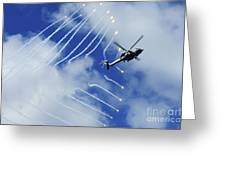 An Hh-60h Sea Hawk Helicopter Releases Greeting Card