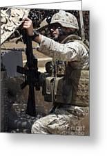 An Infantryman Talks To His Marines Greeting Card