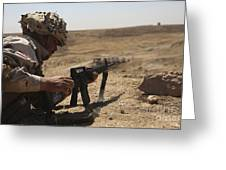An Iraqi Army Soldier Prepares To Fire Greeting Card