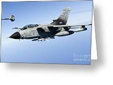 An Italian Air Force Tornado Ids Greeting Card