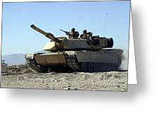 An M1a1 Main Battle Tank Greeting Card