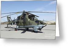 An Mi-24 Hind Helicopter Greeting Card